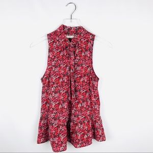 bdb211a38c635d Joie Tops - Joie estero silk floral sleeveless tie neck